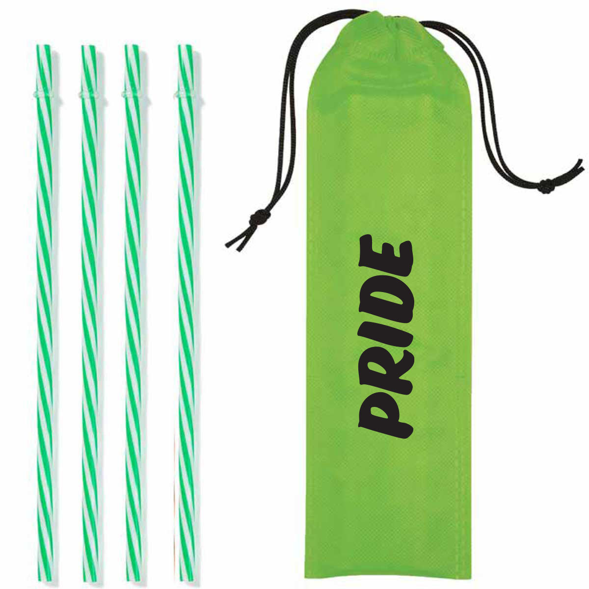 315565 striped reusable straws kit one color one location imprint