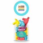 Medium 315526 mini candy jar full color label on top of lid must order in increments of 6