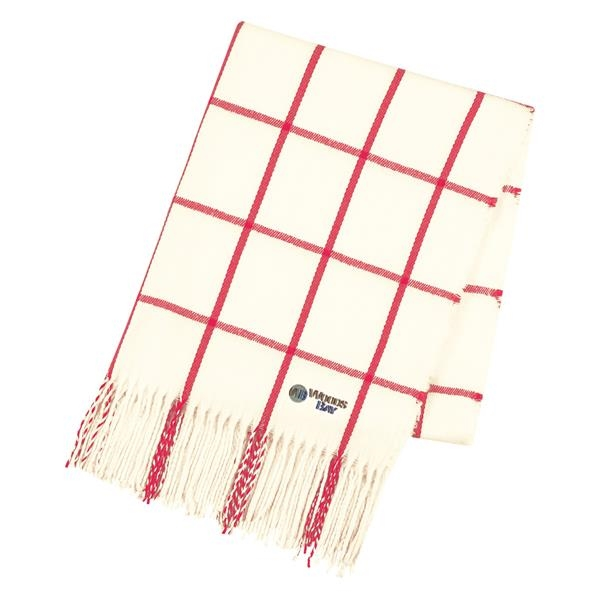Window scarf red