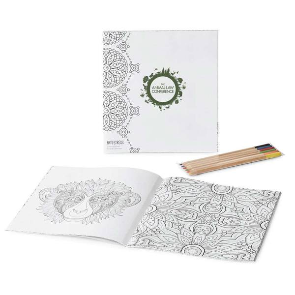 Xlarge 349142 tranquil coloring book set full color imprint one location