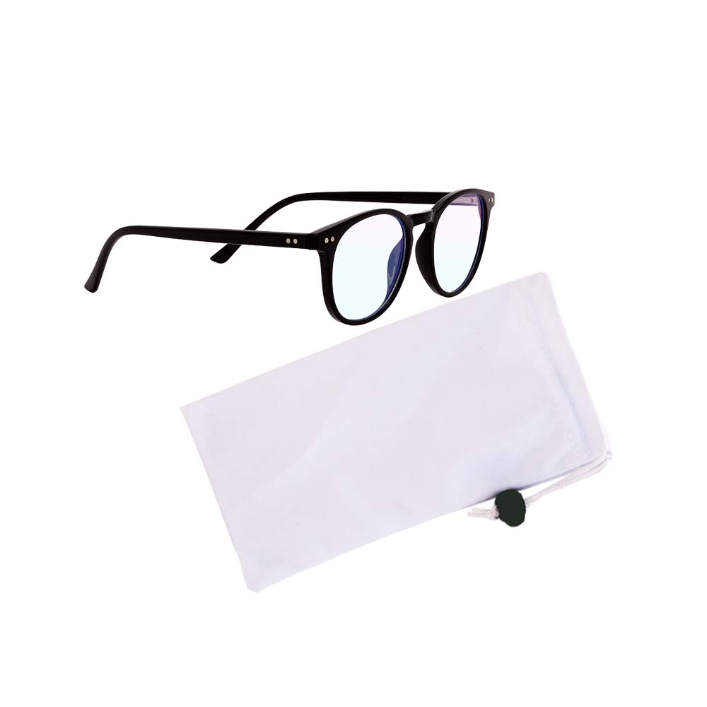 Hackett blue light glasses black pouch clear
