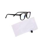 Medium hackett blue light glasses black pouch clear
