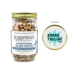 Medium 357752 gourmet nut mix full color 3 x 3 sticker on lid