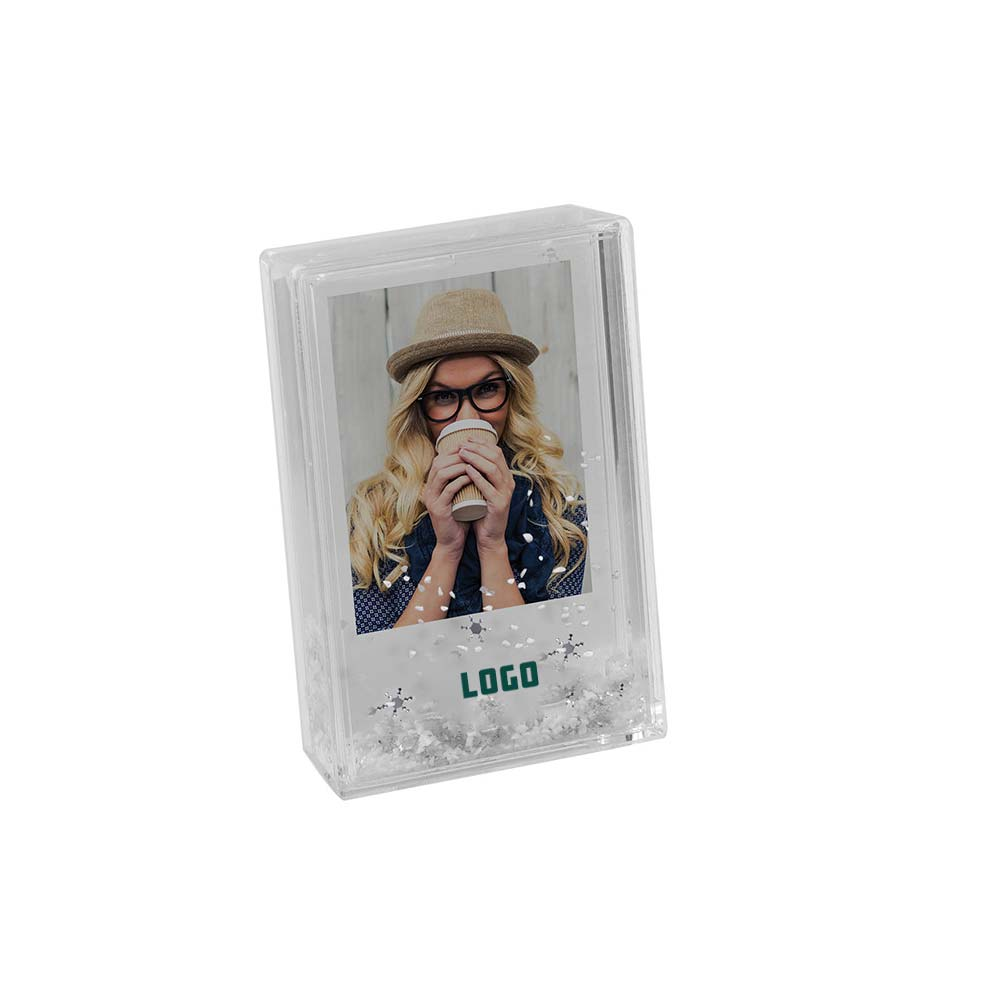 352961 mini snow picture frame one color one location imprint