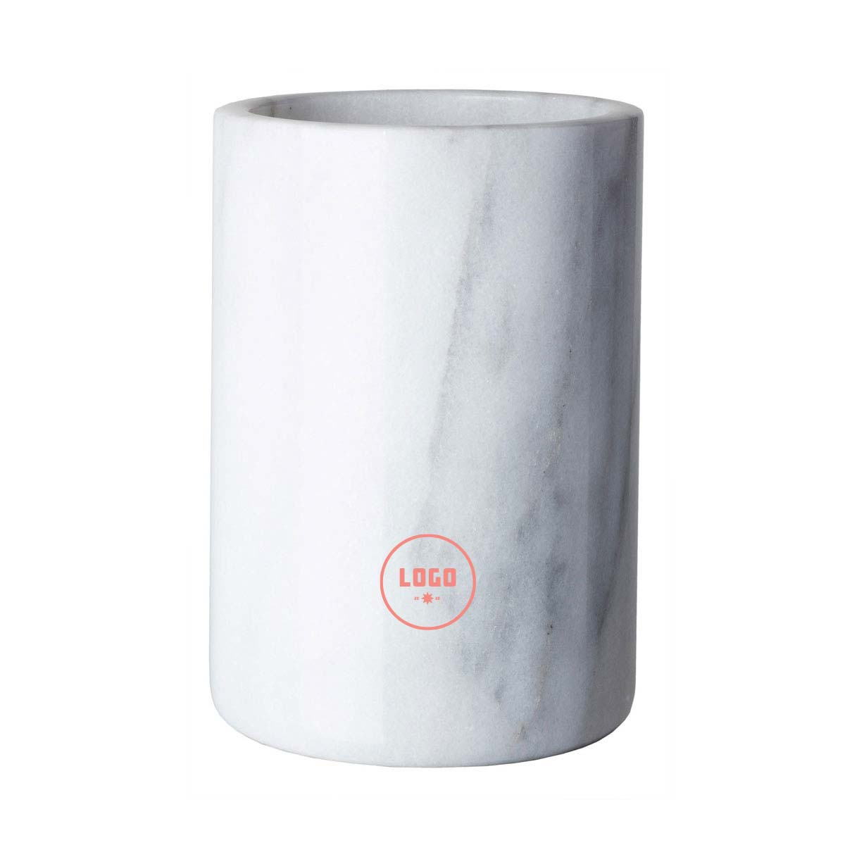361679 white marble wine cooler one location laser engraved