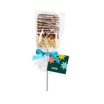 Medium 357276 drizzled rice krispy pop full color label or hang tag one side