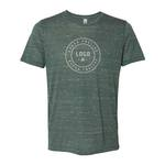 Medium 357751 unisex textured short sleeve one color one location imprint