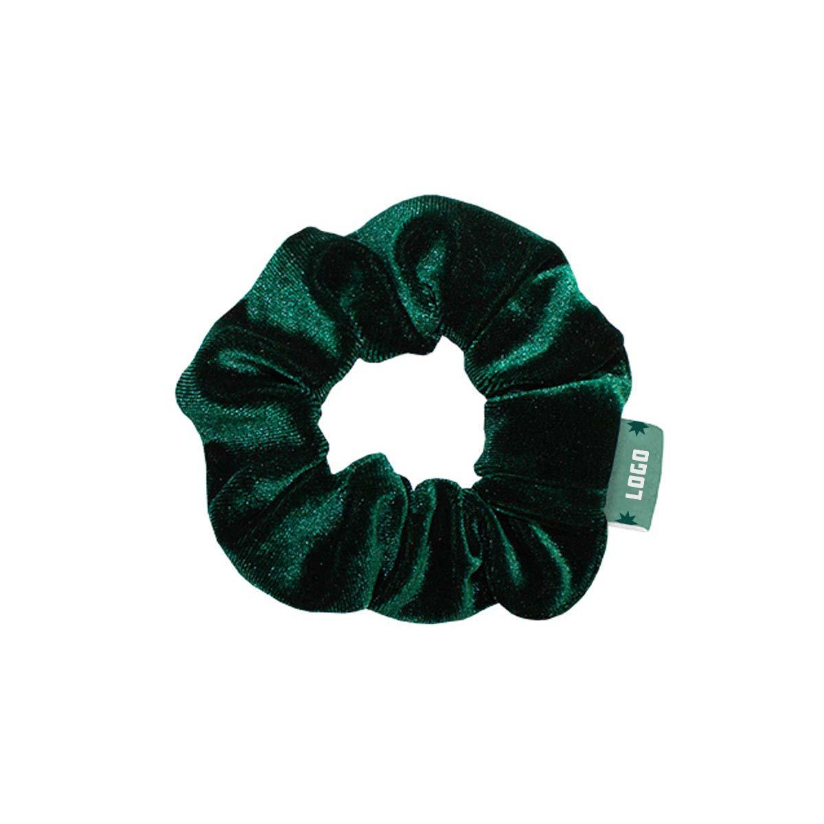 357763 velvet scrunchie woven label stock color scrunchie bulk packaging