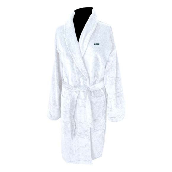 353198 terry velour shawl collar robe one location embroidered left chest