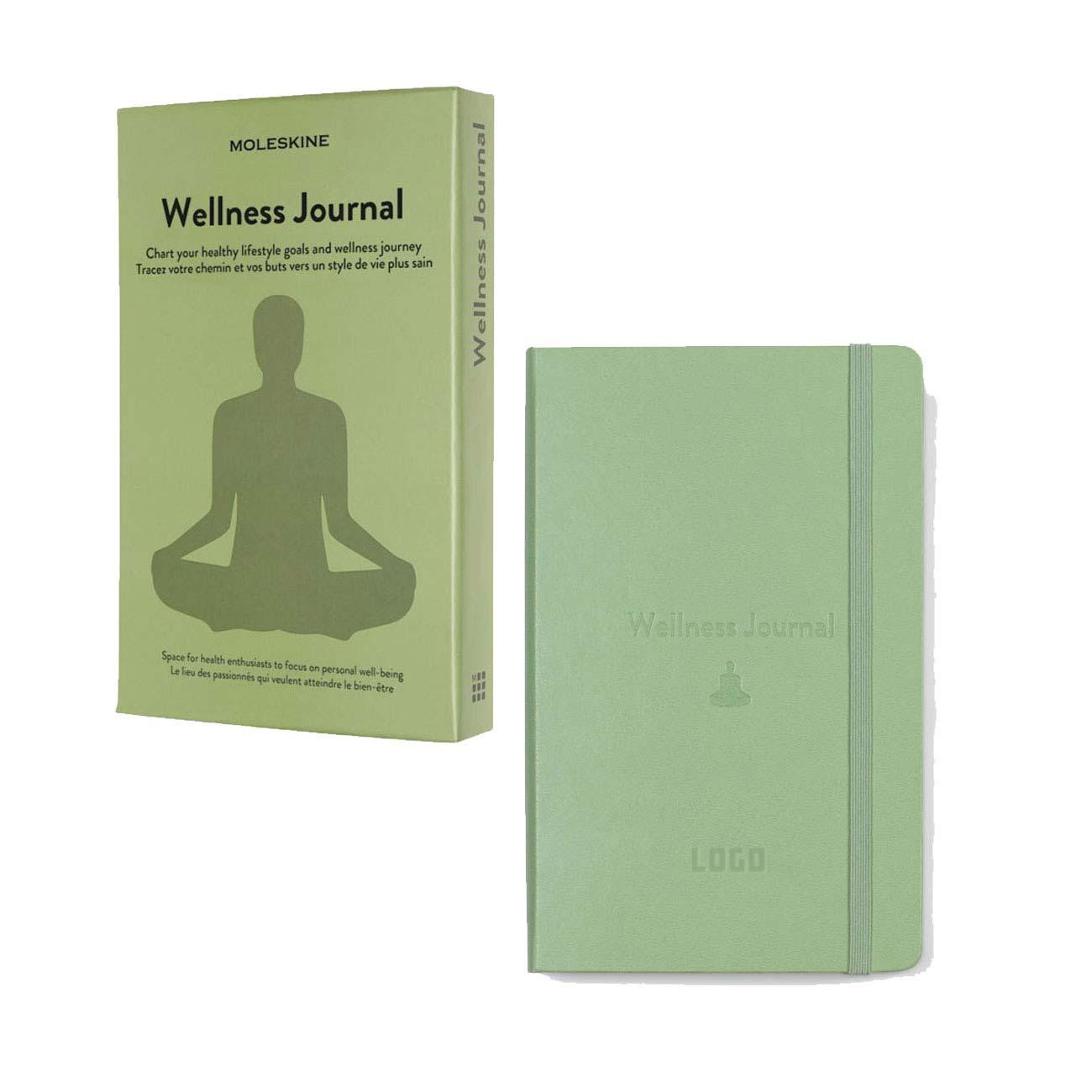 356157 wellness hardcover journal one location blind deboss