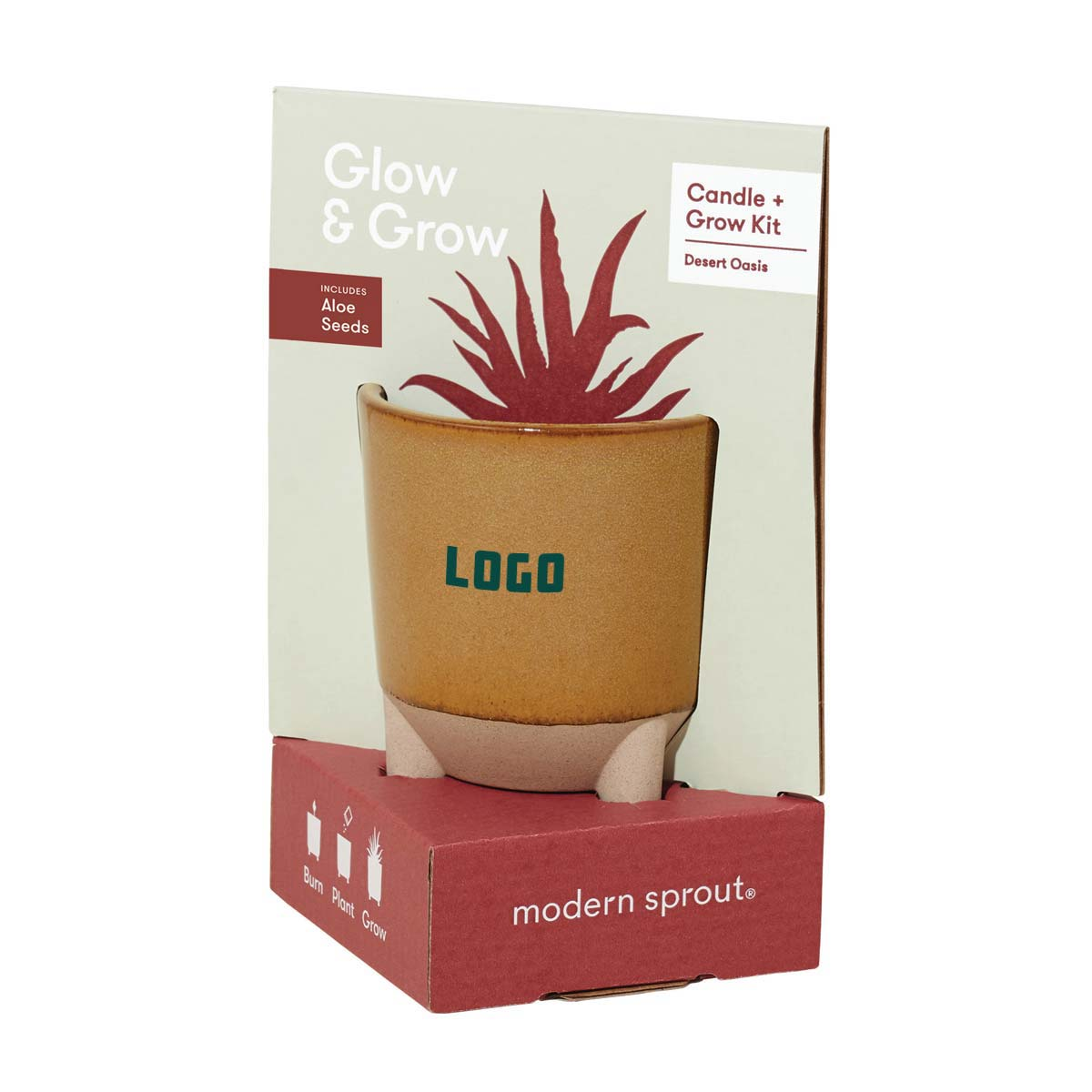 352960 glow grow gift set one color one location imprint