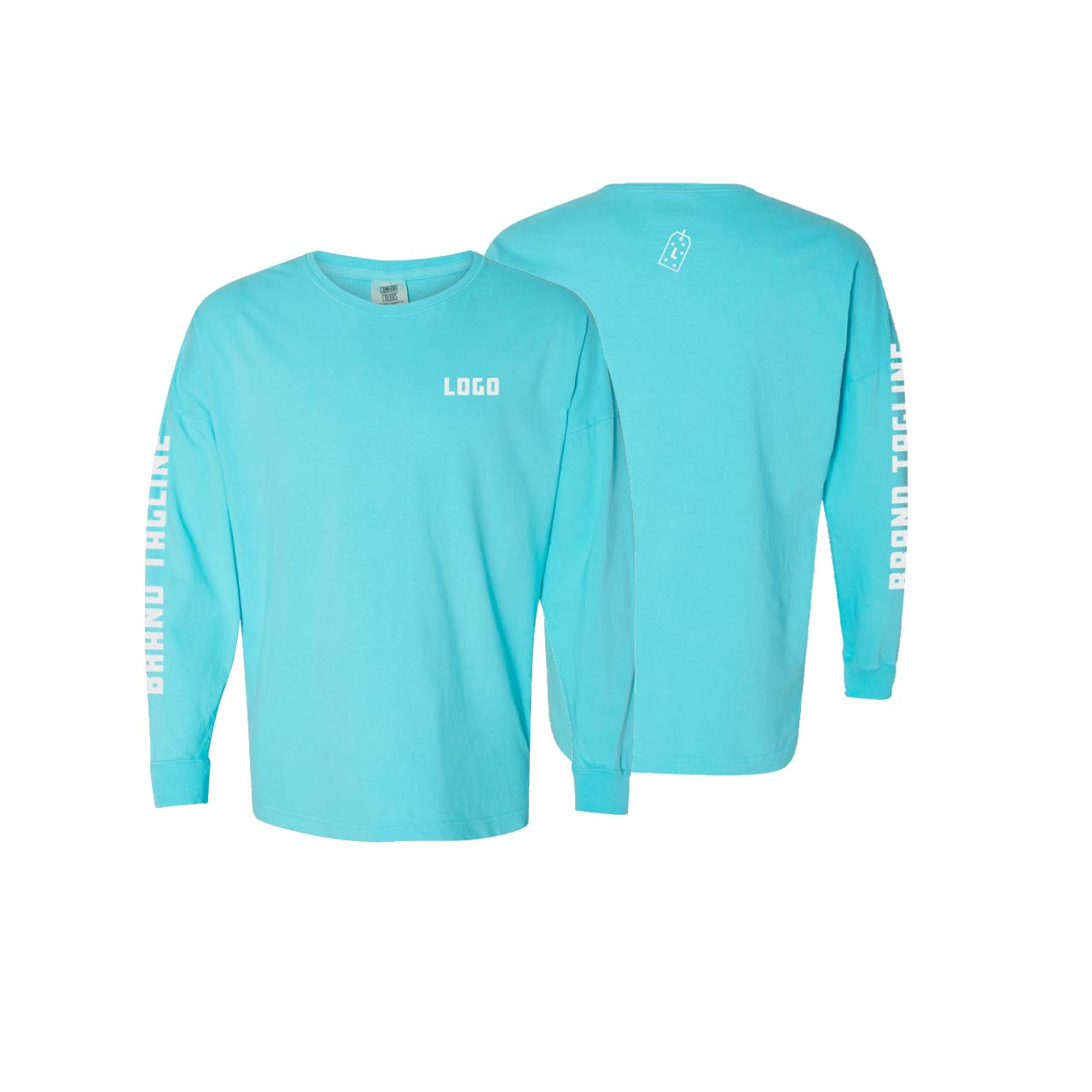 361697 drop shoulder long sleeve tee one color one location imprint