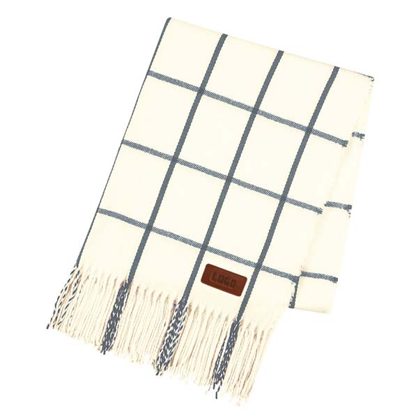 356386 window plaid scarf deboss or engraved on leather patch