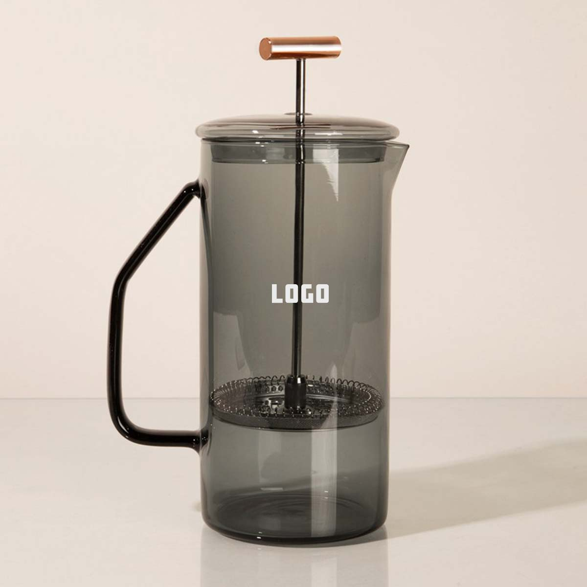 353209 glass french press one color one location imprint