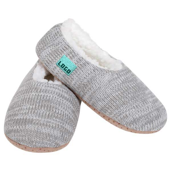 355642 cozy knit slipper sock 1 location woven label up to 5k stitches