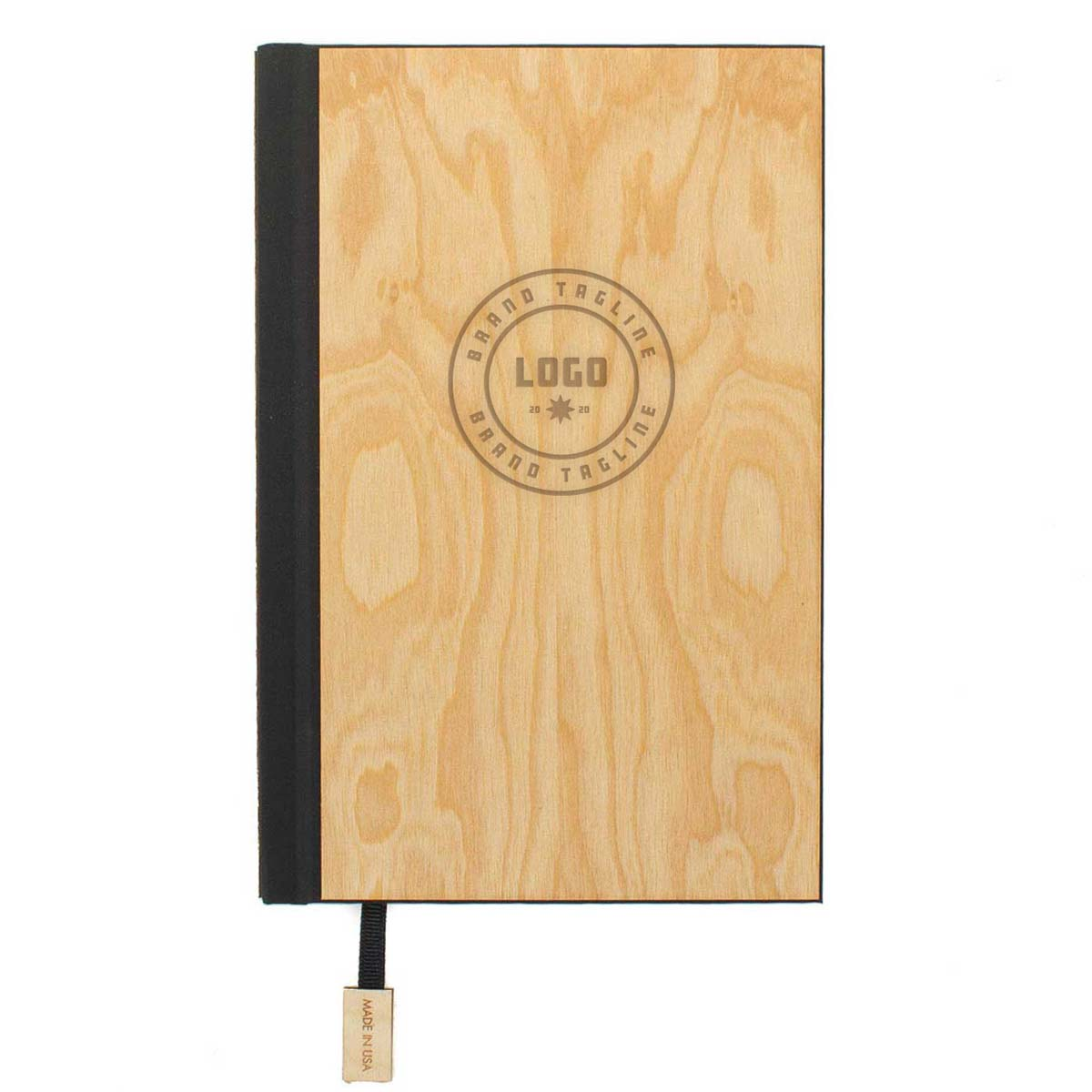 357768 classic wood journal one location laser engraved