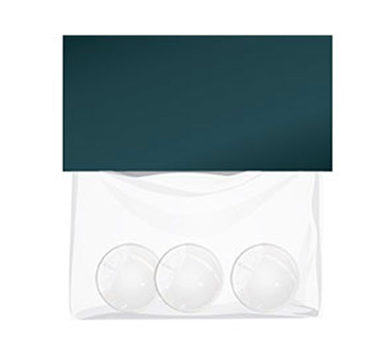 3x1 inch round standard bag topper 1