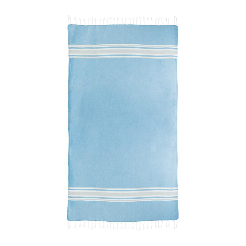 Baby blue sunset towel