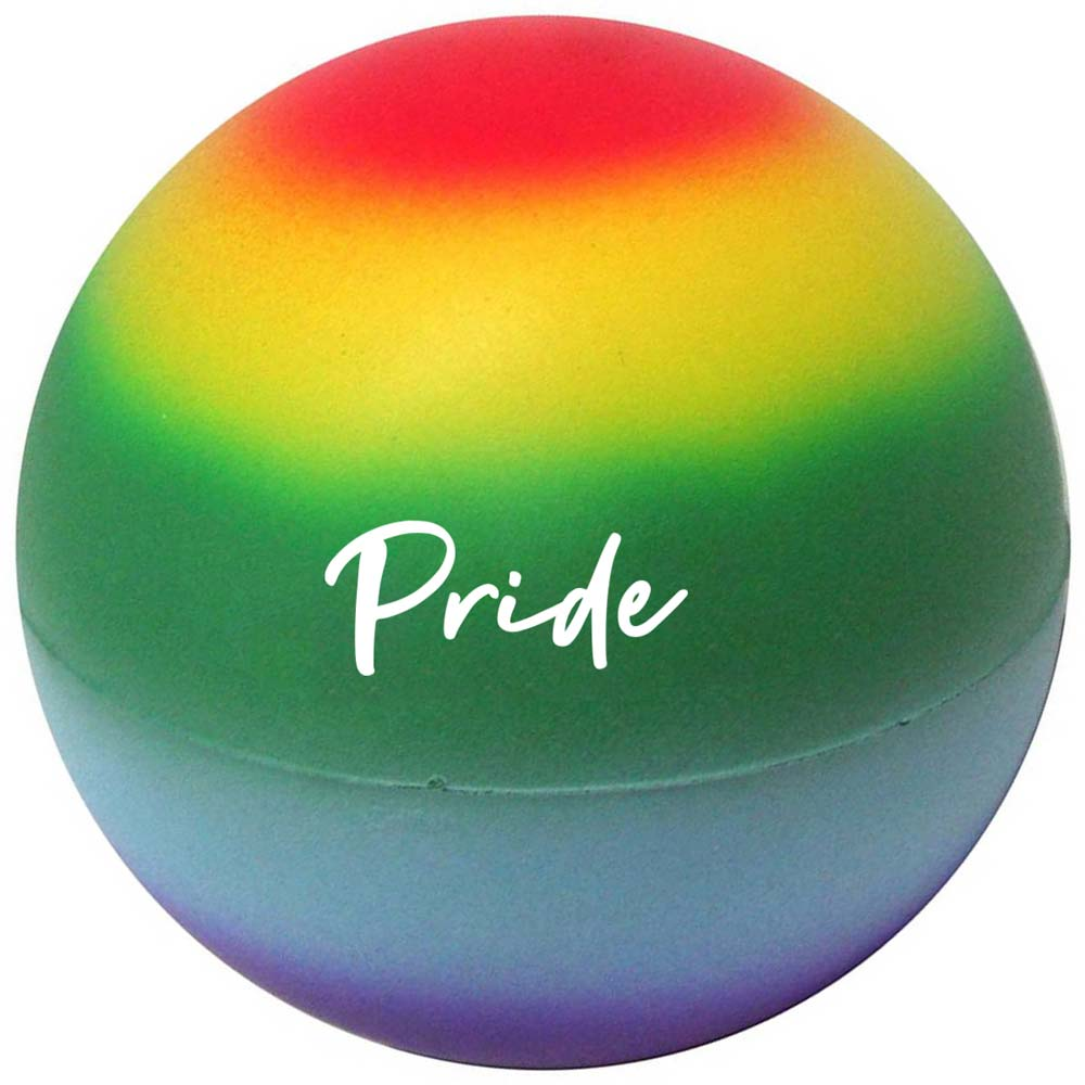 464850 rainbow stress ball one color one location imprint