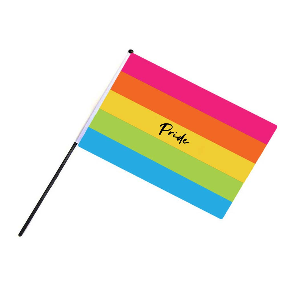 464841 spectrum hand flag full color sublimated imprint one side