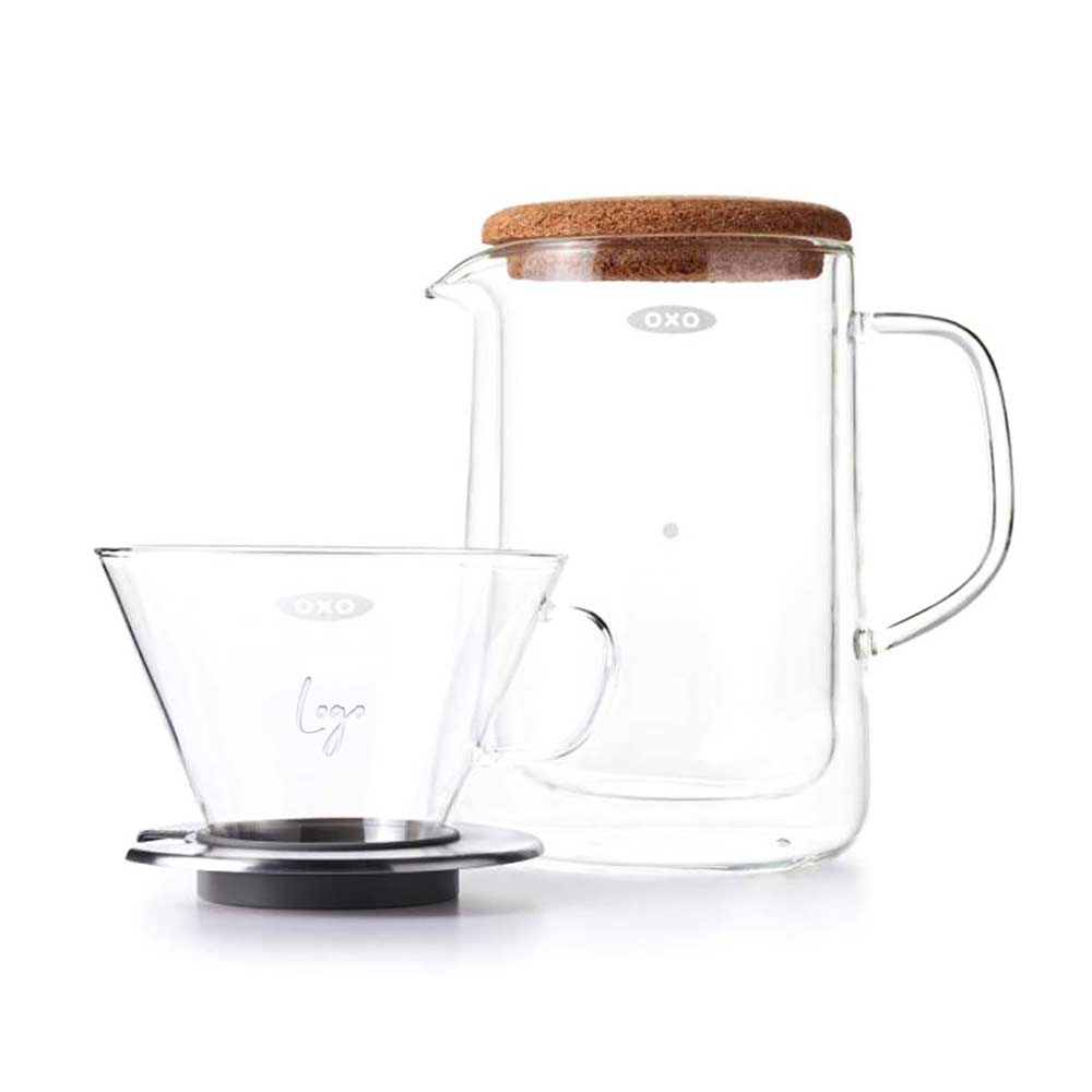 513834 glass pour over set one location laser etching