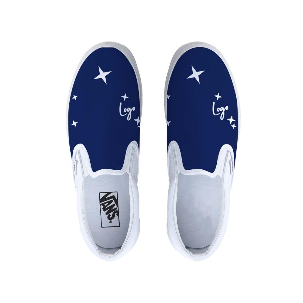510986 vans slip ons full design full design on white base shoe