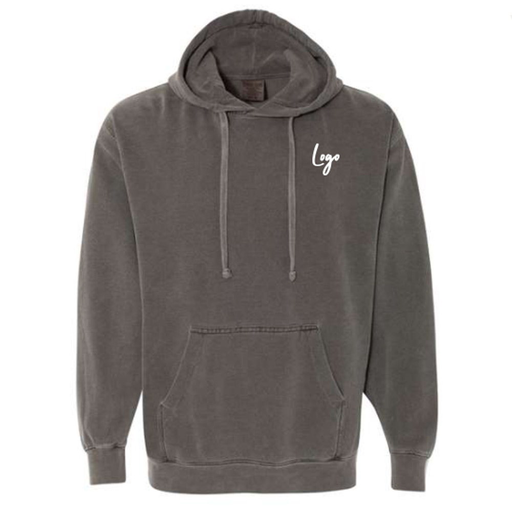511025 bronte garment dyed hoodie two color one location imprint