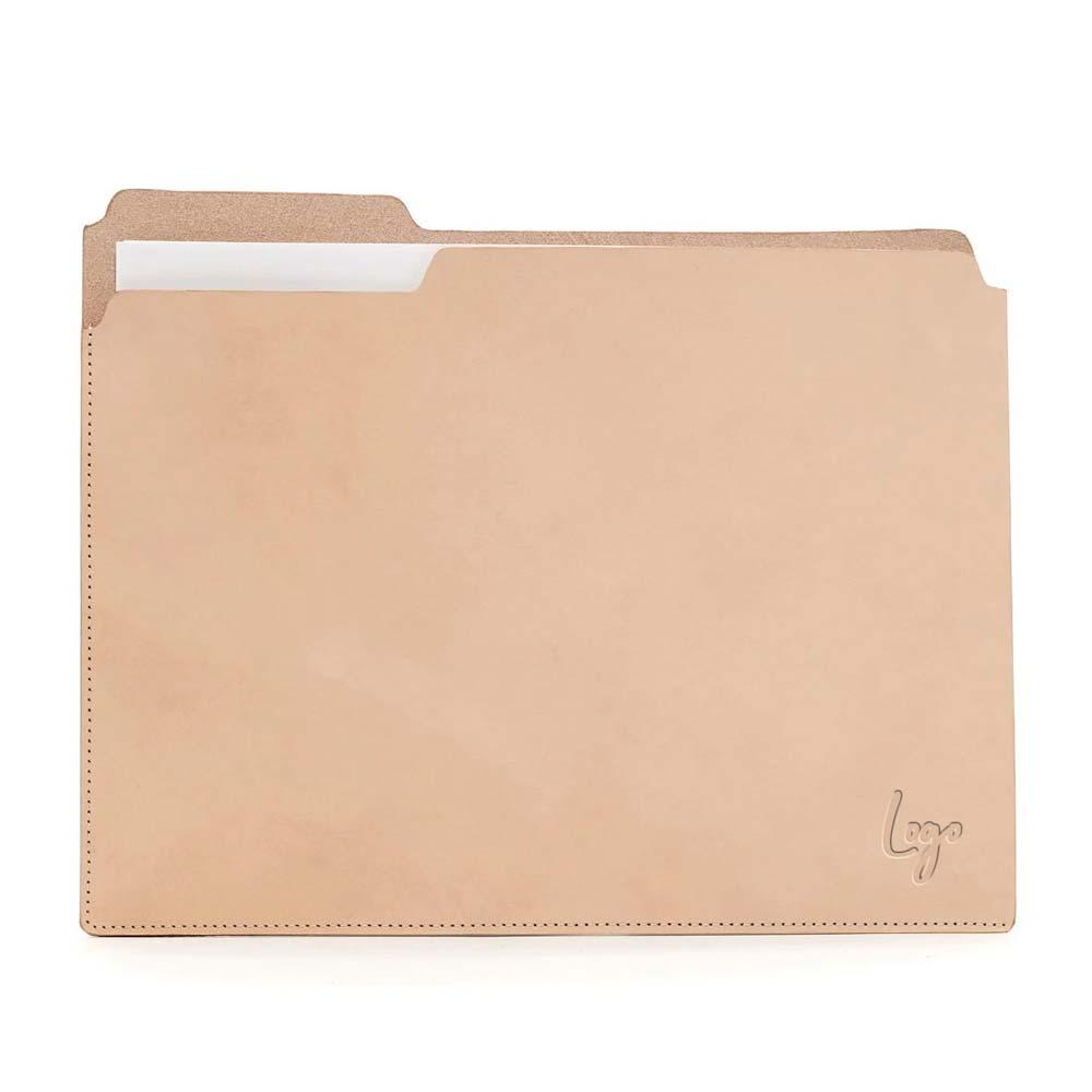 510972 leather fiaru folder one location laser engraved