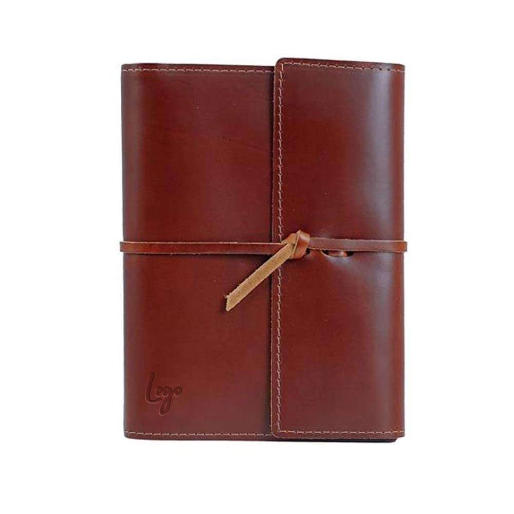 510944 leather tie notebook one location foil stamp
