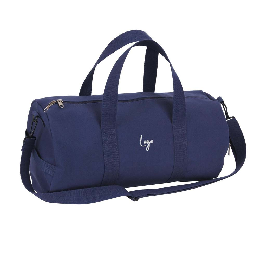 510952 heavyweight canvas duffle bag embroidered up to 8k stitches