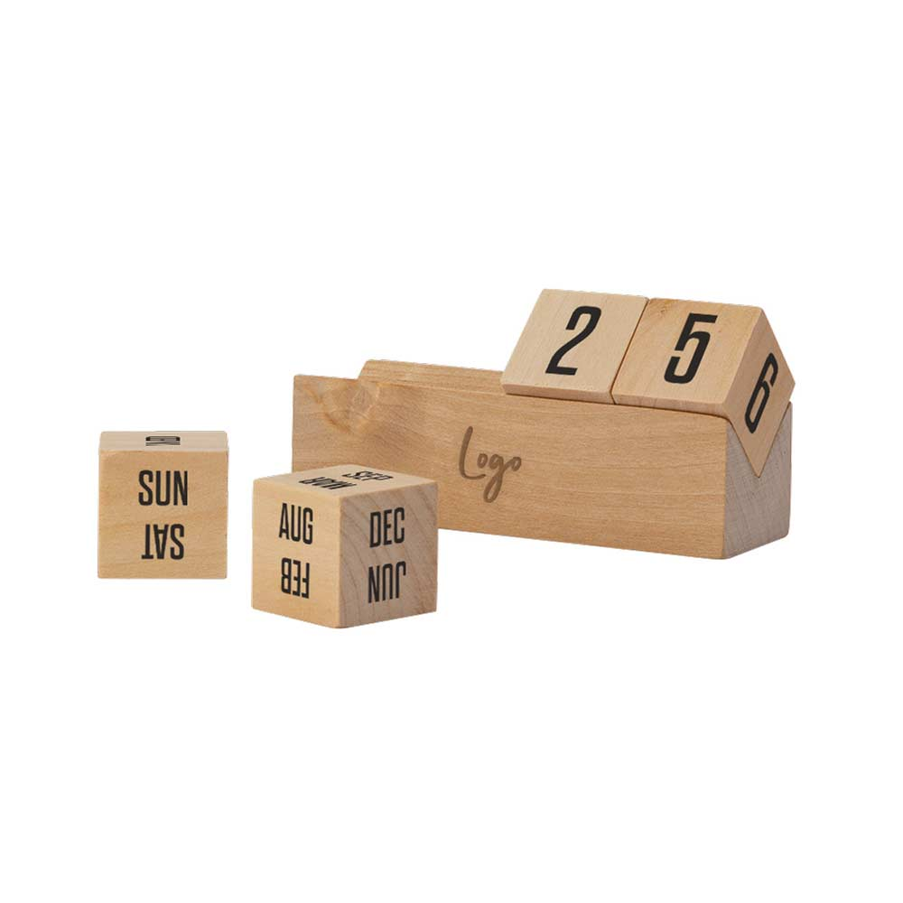 513835 wooden perpetual calendar one location laser engraved
