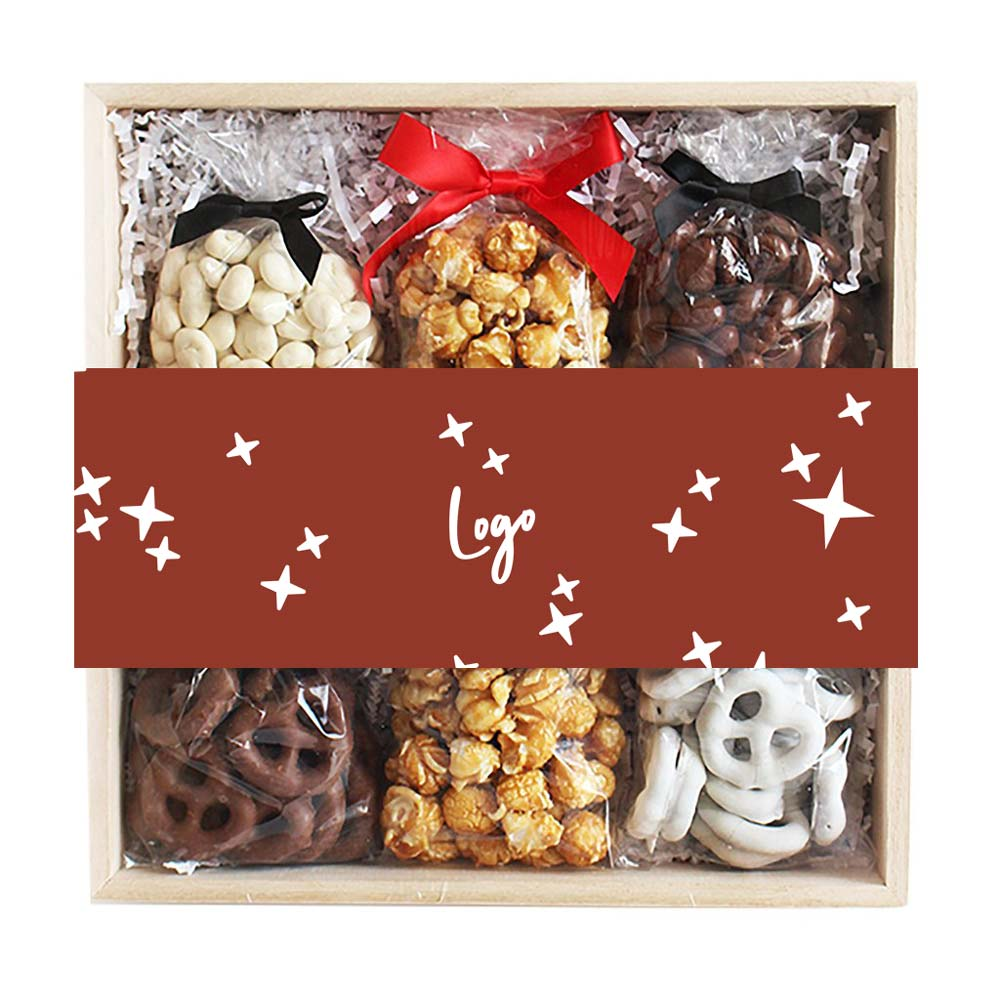 510948 5 treat wooden gift box full color full bleed belly band