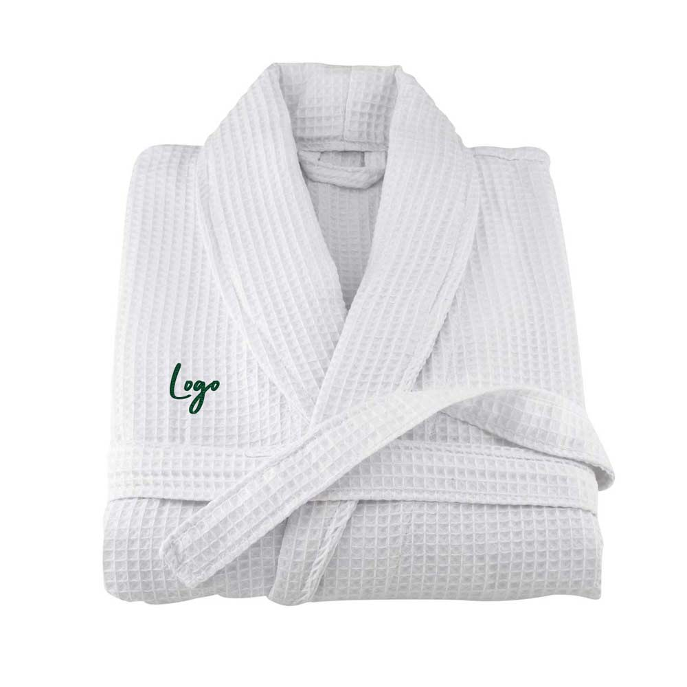 513833 waffle weave robe one location embroidered