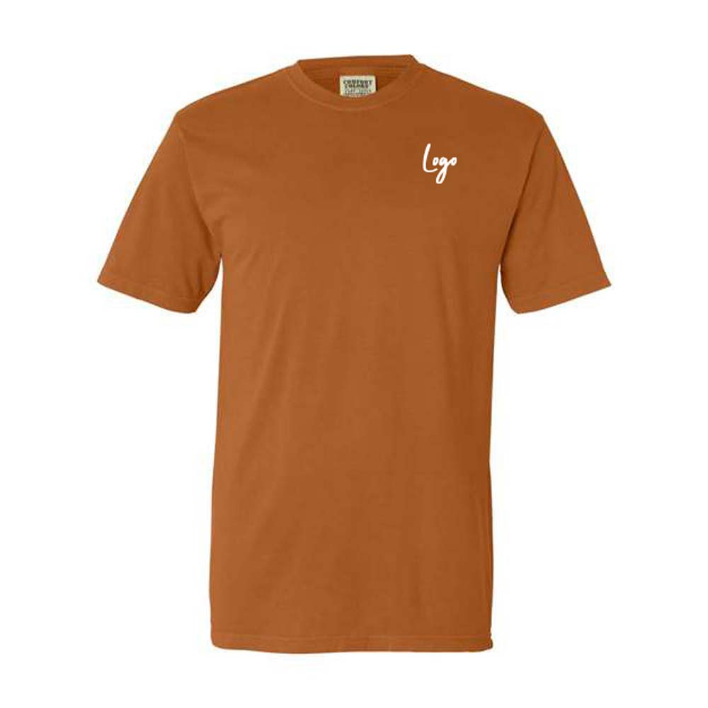 510933 garment dyed lightweight t shirt one color one location imprint