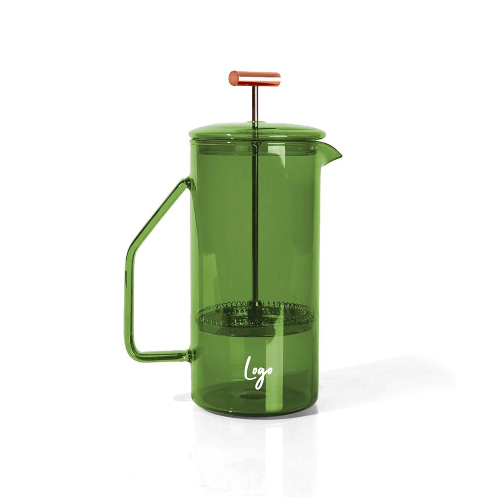 510970 glass french press one color one location imprint
