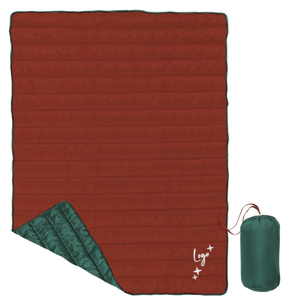 510915 puffy quilted blanket full color blanket pouch