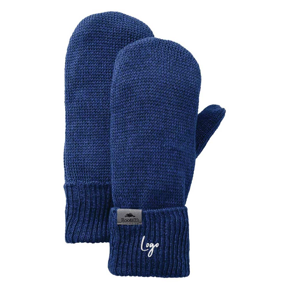 513755 heathered mittens one location embroidery on cuff