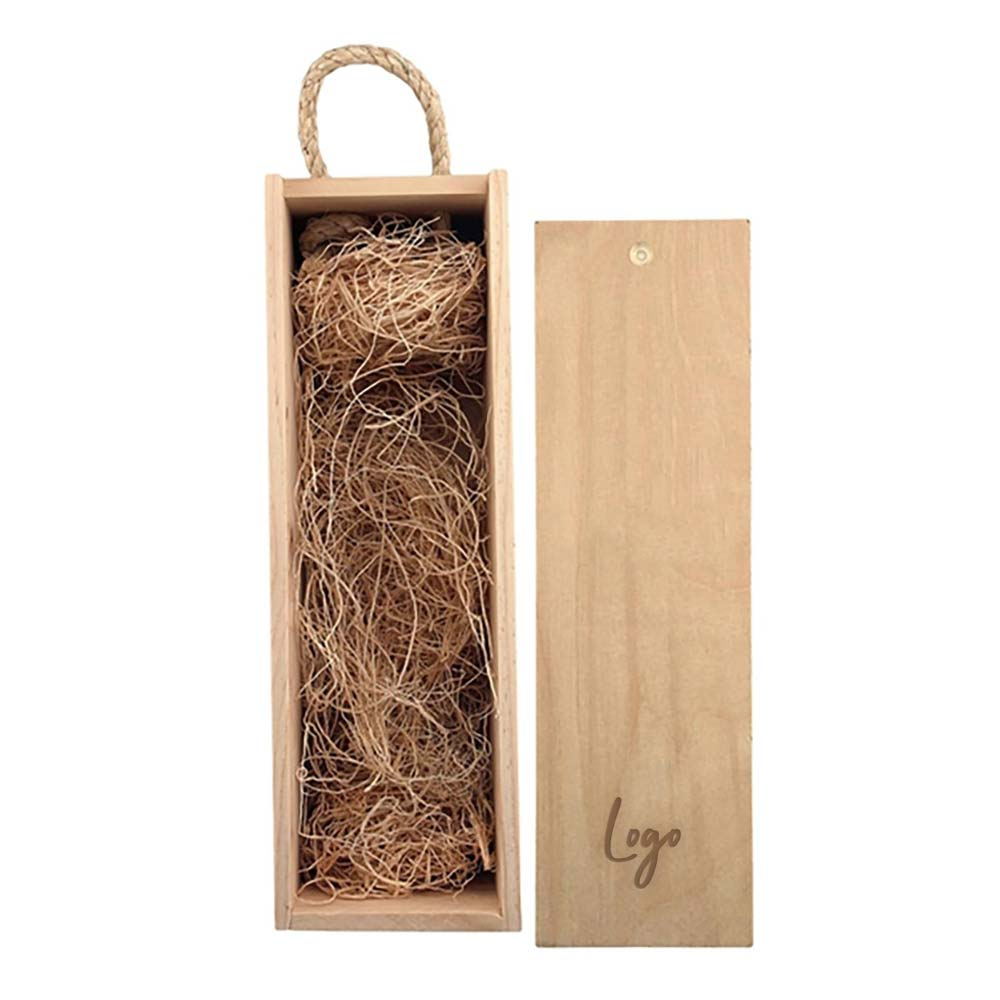 510922 wooden bottle gift box laser engraved one location on lid