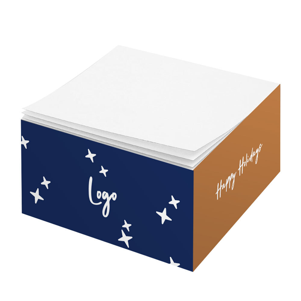 510891 half cube note pad full color printed sides no imprint on top sheet
