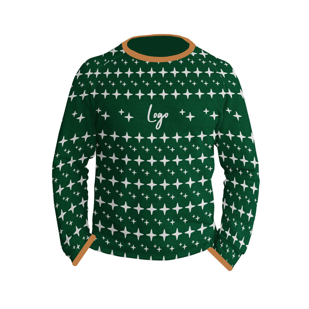510928 woven holiday sweater full color knit sweater
