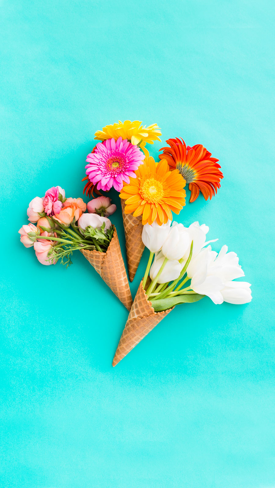 Colorful tumblr wallpaper iphone - Download Floral Bunch Of Ice Cream Cones