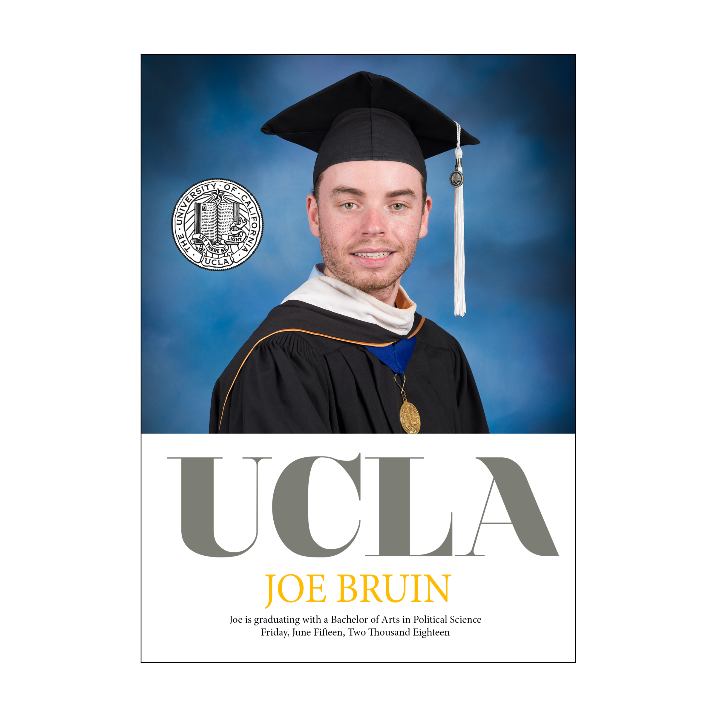 UCLA Standout Graduation Announcement
