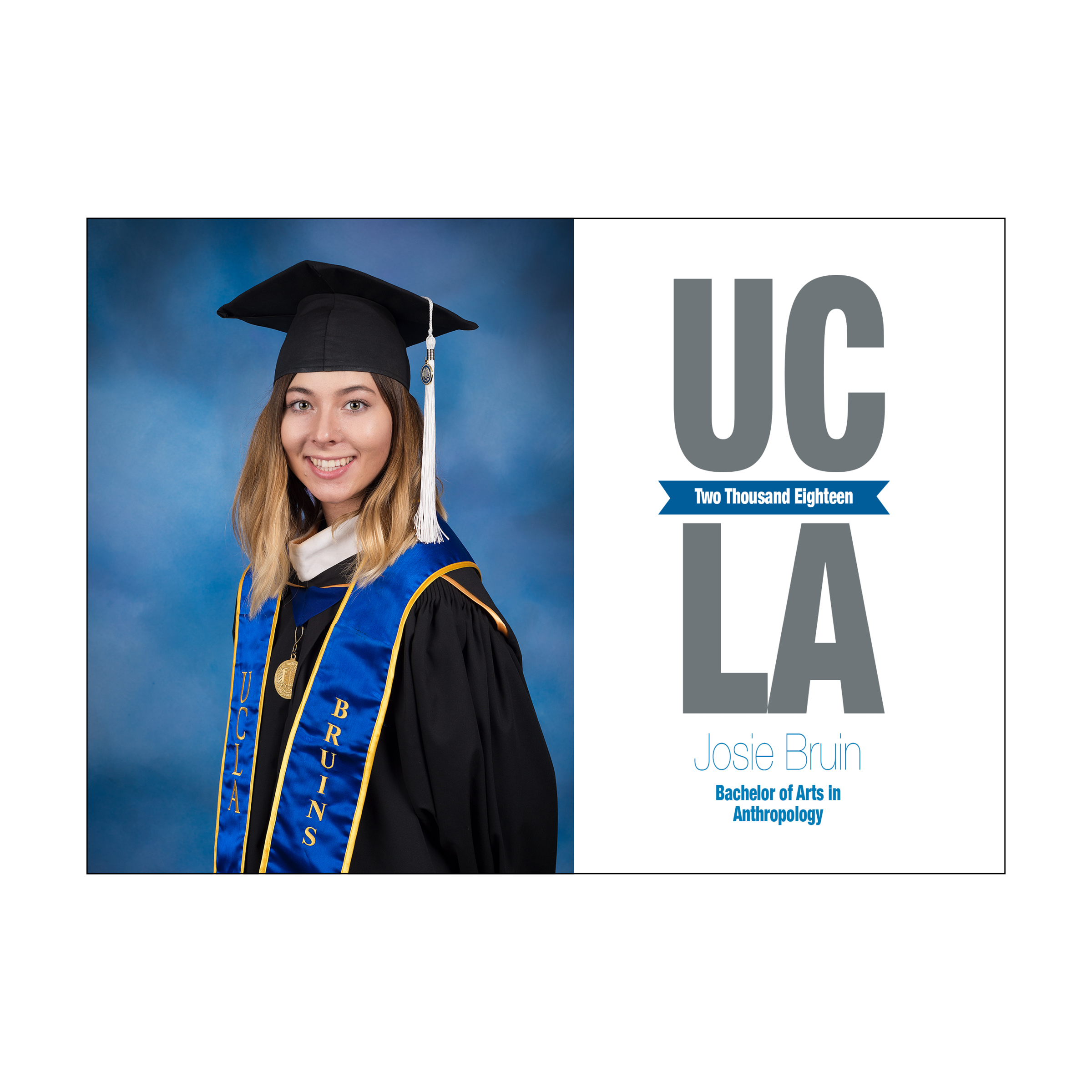 UCLA Staggered Graduation Announcement