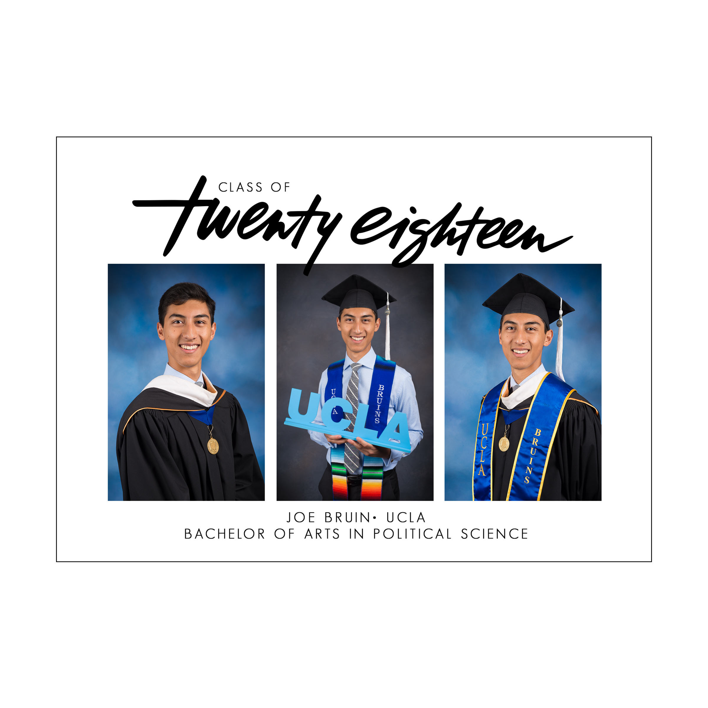 Big Year Graduation Announcement