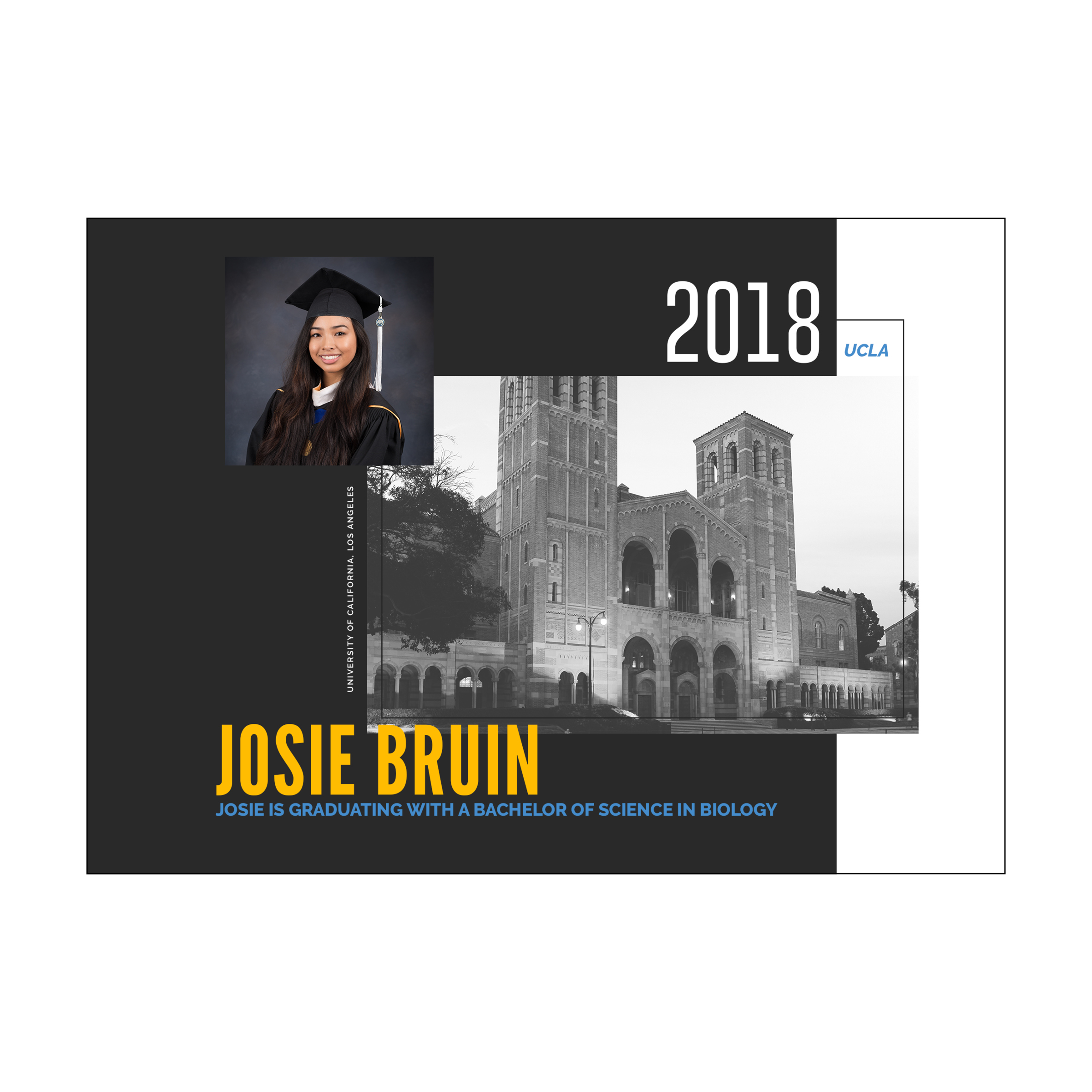 Royce Hall Graduation Announcement