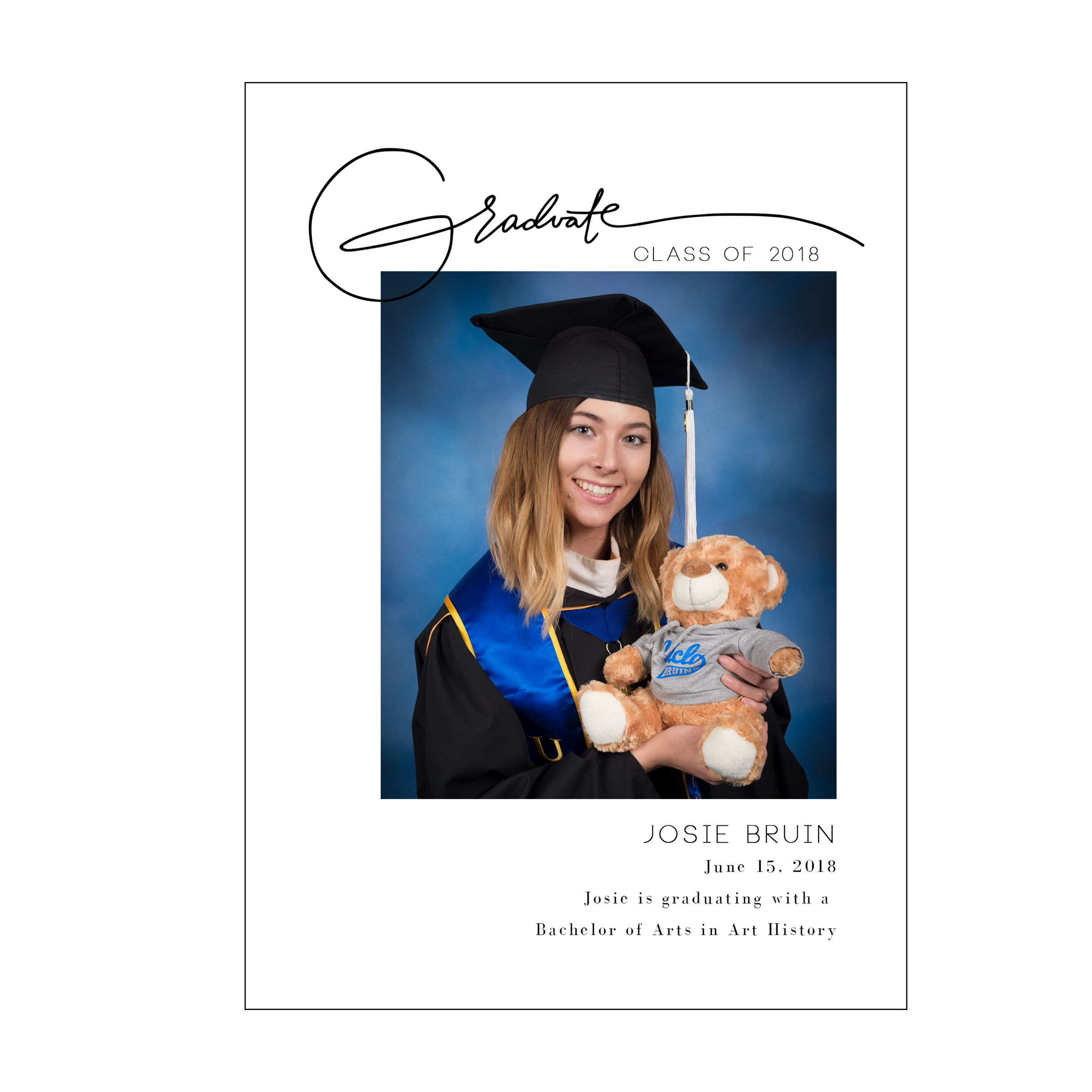 Signature Graduation Announcement