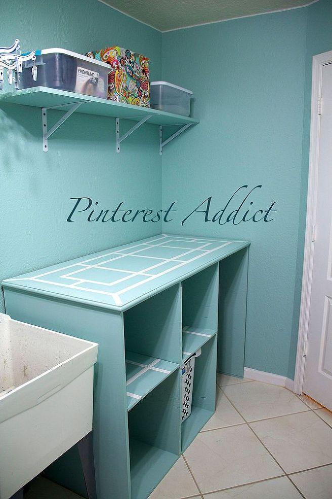 DIY Folding Table And Basket Storage Via Hometalker Pinterest Addict