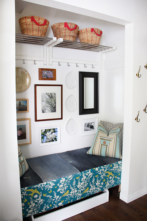 Entryway from a Closet via Hometalker Jen @Fresh Crush