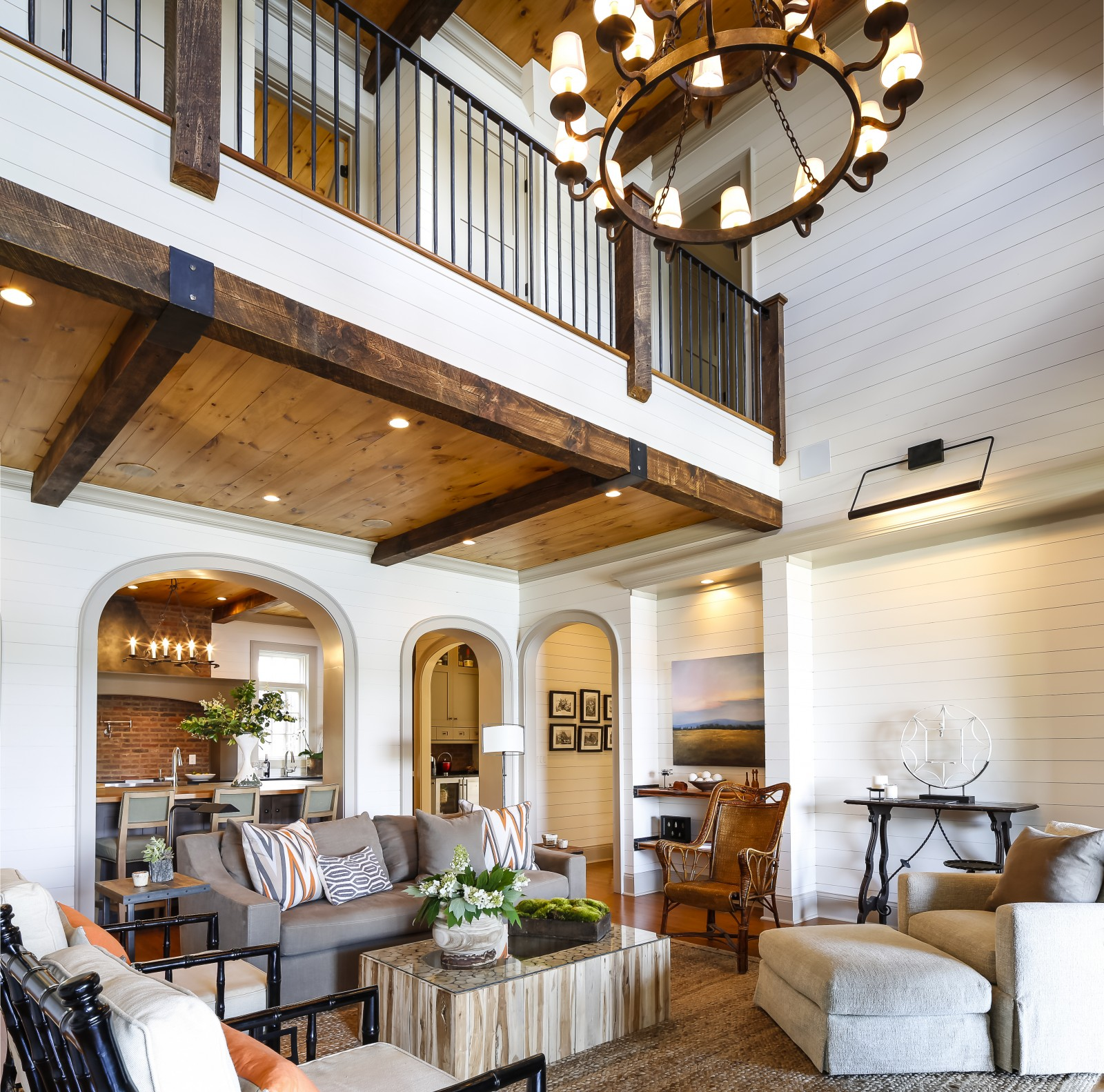 Tour A Riverfront Home That Draws Inspiration From The Great - Living-room-realty-exterior