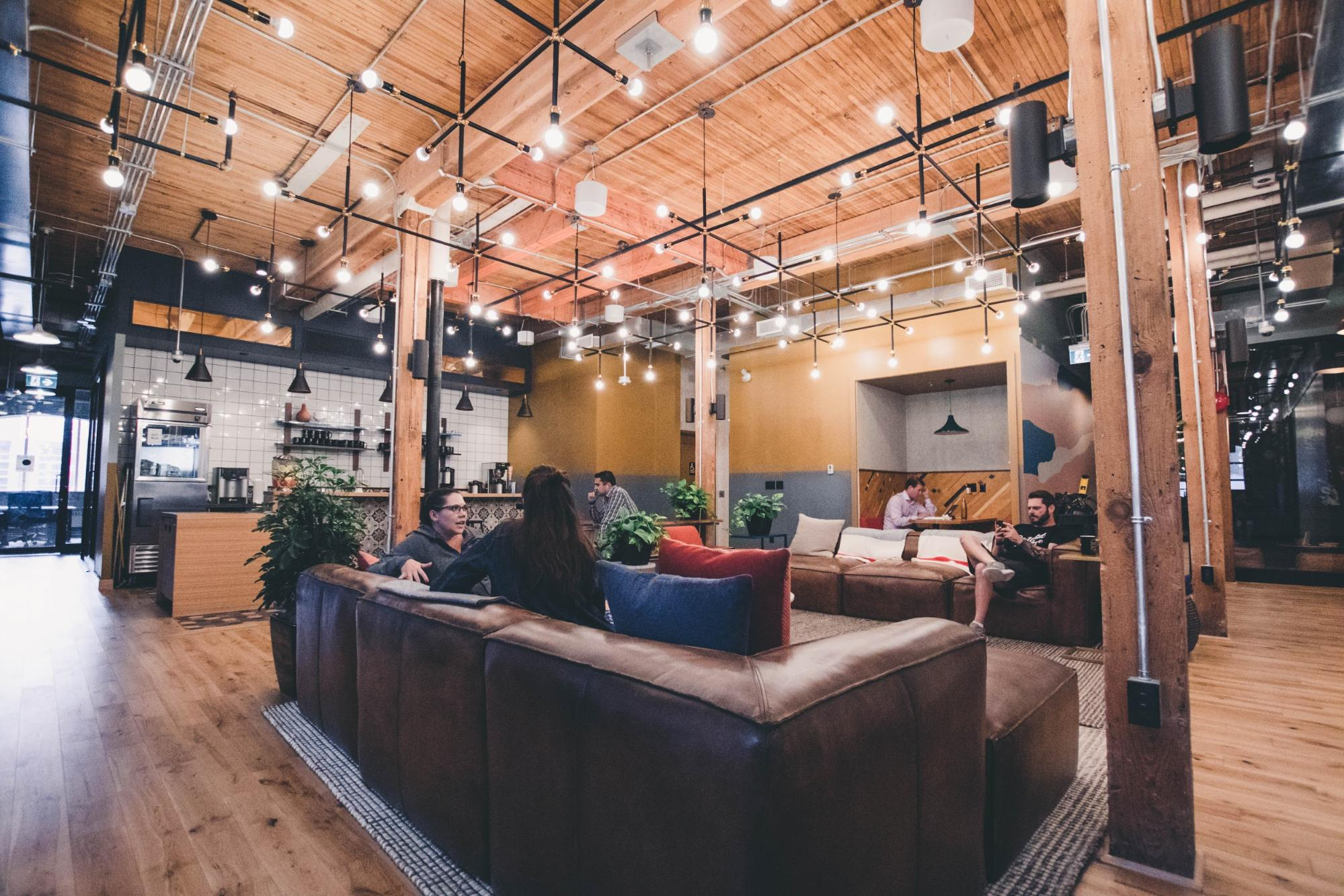 recharge room with sofas and meeting